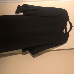 Calvin Klein Black Bell Sleeve Dress
